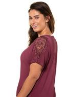 Picture of Majica s izvezenom čipkom na ramenima kratki rukav