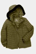 Picture of Jakna štepana kraći model s imitacijom krzna na kapuljači